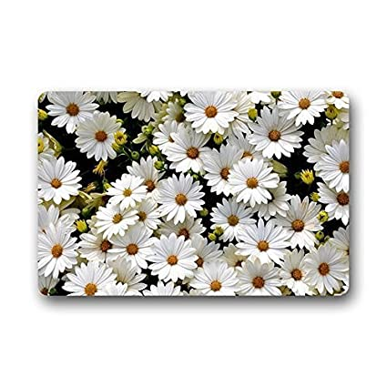 Merveilleux Daisy Flower Doormat Kitchen Rugs Cover Non Slip Outdoor Indoor Bathroom Kitchen  Decor Rug Mat