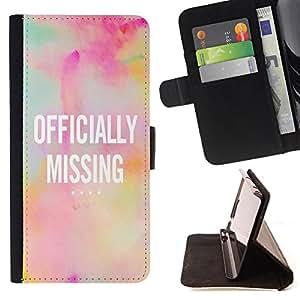 King Case - FOR Samsung Galaxy A3 - ?Happiness is waiting - Prima caja de la PU billetera de cuero con ranuras para tarjetas, efectivo Compartimiento desmontable y correa para la mu?eca
