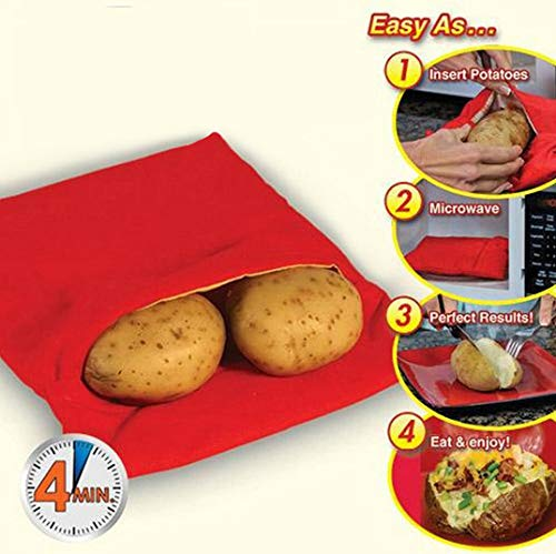 3 unidades de microondas bolsa de patatas cocina, winhoo bolsillo ...