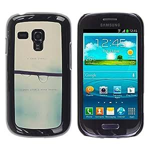 FECELL CITY // Duro Aluminio Pegatina PC Caso decorativo Funda Carcasa de Protección para Samsung Galaxy S3 MINI NOT REGULAR! I8190 I8190N // Love Blurry Sweet Rain Focus