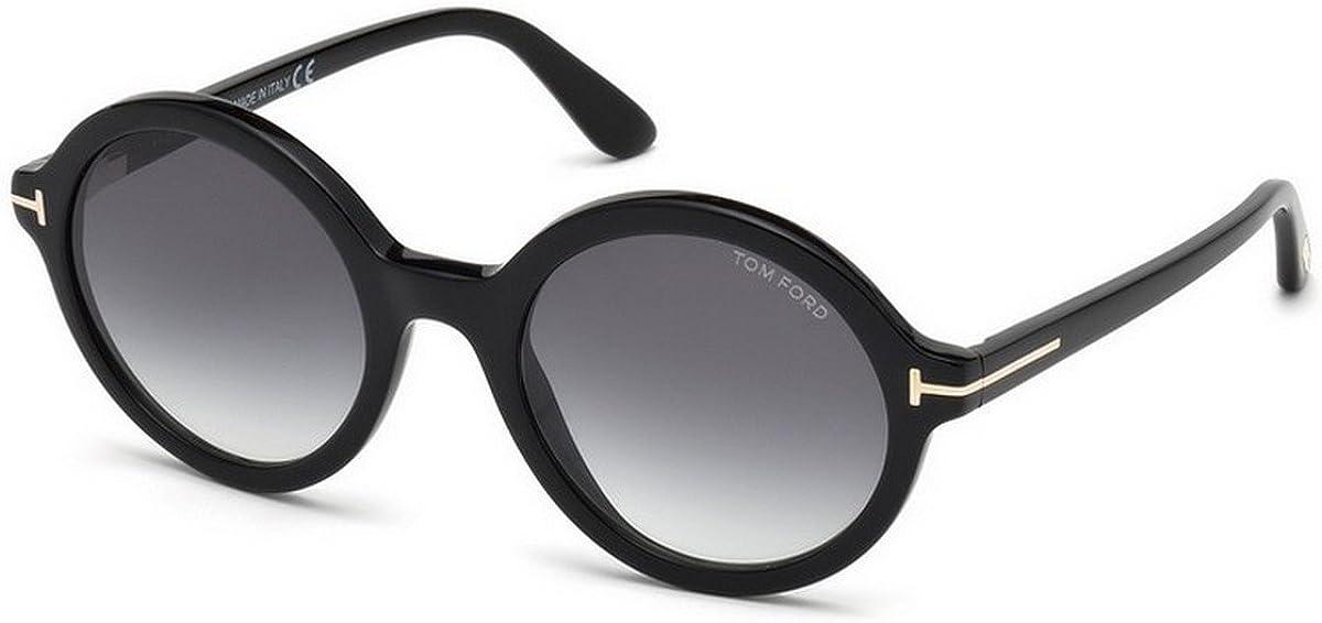 Tom Ford FT0602 001 52 Monturas de gafas, Negro (Negro LucidoFumo), 52.0 Unisex Adulto