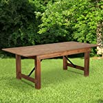 "Flash Furniture HERCULES Series 7' x 40"" Rectangular Antique Rustic Solid Pine Folding Farm Table"