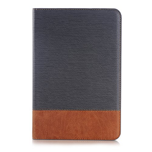 Leather Texture Clip (SAVYOU Galaxy Tab A 8.0 T350 Case Retro Style Slim Folio Leather Wallet Smart Cover Stand Case With Auto Wake / Sleep for Galaxy Tab A 8.0 Tablet SM-T350 Gray)
