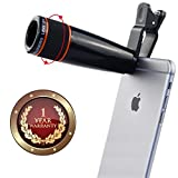 Elevea Universal 12X Zoom Mobile Phone Plastic and Metal Telescope Lens for Android or iPhone Devices (Assorted)