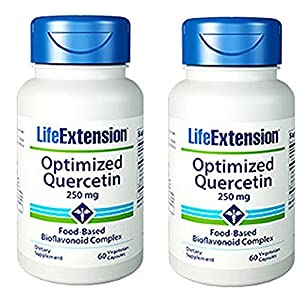 Life Extension Optimized Quercetin, 60 Capsules (2 Pack)