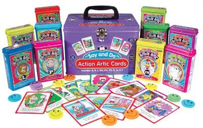 1586503782 Super Duper Publications Say and Do Action Articulation Fun Deck Cards Combo Educational Learning Resource for Children 51yycgktOpL.