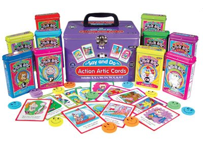 Super Duper Publications Say and Do Action Articulation Fun Deck Cards Combo Educational Learning Resource for Children by Super Duper Publications