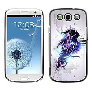 GagaDesign Phone Accessories: Hard Case Cover for Samsung Galaxy S3 - Purple & Black Abstract graffiti