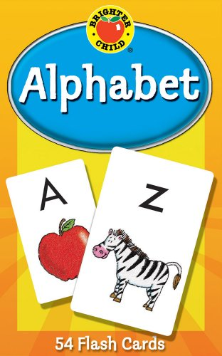 Carson Dellosa - Alphabet Flash Cards - 54 Cards for Toddler Early Learning, Uppercase and Lowercase Letters, ABCs with Bonus Game Card, Ages 4+ (Brighter Child Flash Cards) ()