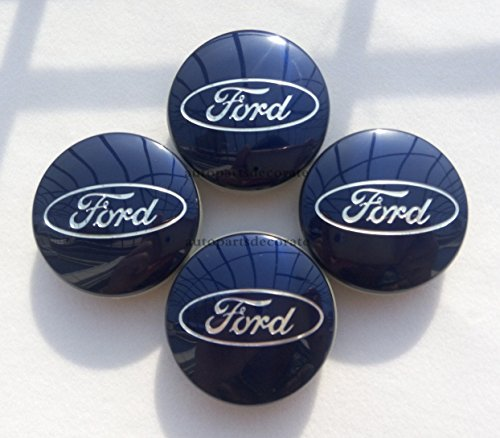 (AOWIFT New 4pcs Ford Glossy Blue Center Wheel Hub Caps Emblem Cover Cap Cp9c-1a096-Aa (Fits: Ford))