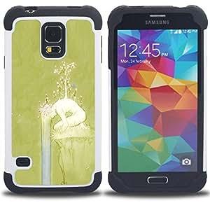"Pulsar ( Primavera Chica Naturaleza Significado Profundo"" ) SAMSUNG Galaxy S5 V / i9600 / SM-G900 V SM-G900 híbrida Heavy Duty Impact pesado deber de protección a los choques caso Carcasa de parachoques [Ne"
