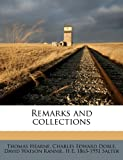 img - for Remarks and collections Volume 10 book / textbook / text book