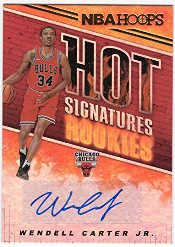 Wendell Carter Jr. 2018-19 Panini NBA Hoops Hot Signature Rookies Auto Chicago Bulls RC Autograph