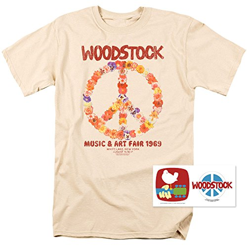Woodstock Logo Perched Licensed Adult T-Shirt