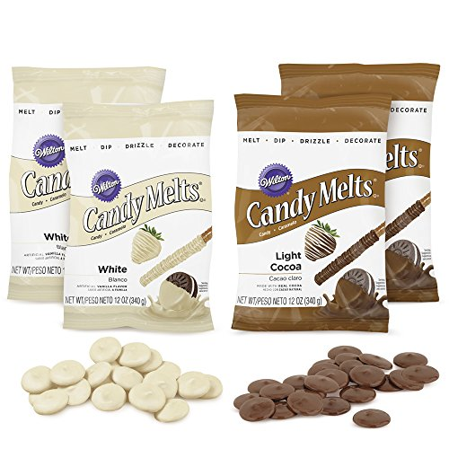 Wilton Light Cocoa & White Candy Melts Multi Pack, Baker & Decorator Bundle, 2109-4266
