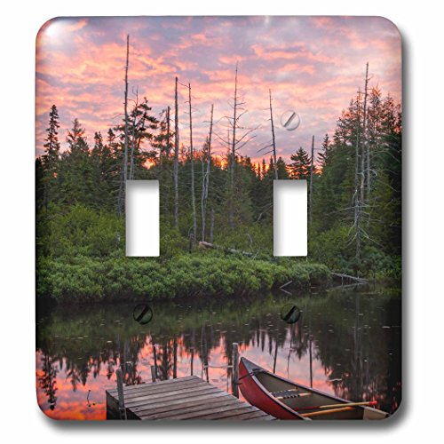 - 3D Rose LSP_230867_2 Canoe Next to The Cold Stream deadwater, Sunrise. Double Toggle Switch