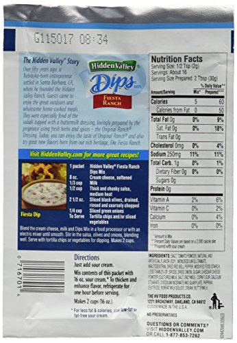 Hidden Valley Fiesta Ranch Dips Mix, Gluten Free - 24 Packets by Hidden Valley (Image #4)