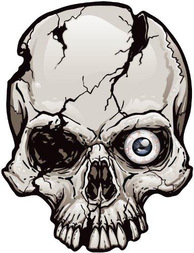 One-Eyed Cracked Skull magnet -