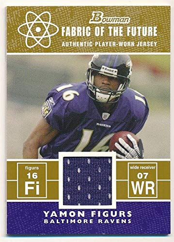 BIGBOYD SPORTS CARDS YAMON FIGURS 2007 Bowman RC Rookie Gold Fabric Future RELIC Jersey SP #/100 F4 ()
