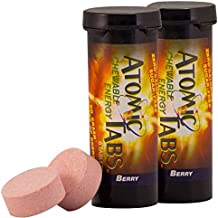 Atomic Tabs Chewable Energy and Preworkout - Berry - 6 Serving Container, 2 PACK