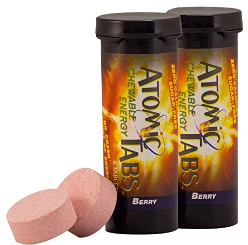 Mountain Berry Tart - Atomic Tabs Chewable Energy and Preworkout - Berry - 6 Serving Container, 2 PACK