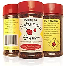 The Original Habanero Shaker - 100% Custom Flaked Hot Habanero Chile Peppers