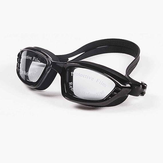 lidahaotin Uomini Donne placchi nuotata Occhiali impermeabile anti nebbia Protezione UV Lens Goggles Beach Surf Eyewear Outdoor nero b1FjJ1SVD