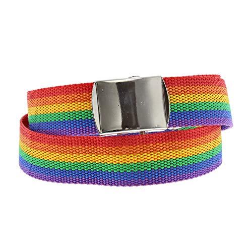 Zac/'s Alter Ego® Rainbow Striped Canvas Slider Belt