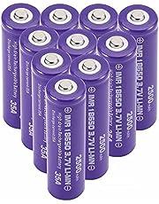 2500mah 3.7v 18650 Batterij Oplaadbaar 18650 Li-Ion Battery 18650 Batterijen Knop Top Grote Capaciteit Voor Led Zaklamp Torch Zaklamp Batterijen Elektronica 1500 oplaadcycli Purper