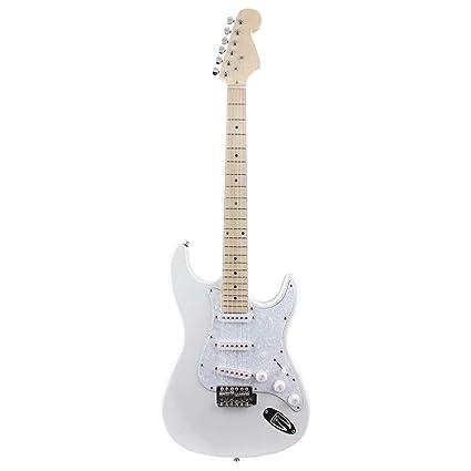 NUYI-4 Guitarra eléctrica Genuina ST Serie Guitarra eléctrica Perla ...