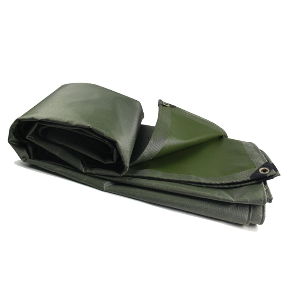 LIXIONG オーニング サンシェードサンシールド 厚い布 耐摩耗性 オイルクロス、 陸軍の緑、 厚さ0.55mm、 580g / m 2、 10サイズ ( サイズ さいず : 2x2m ) B07C2ZMT1C 2x2m  2x2m