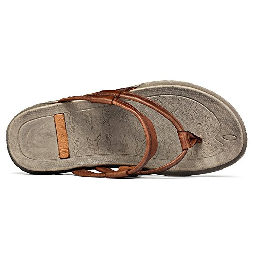 da Slipper piatto 2018 Classic on EU Dimensione shoes Tacco 41 Slip Marrone Casual uomo Mens Color qBUAI