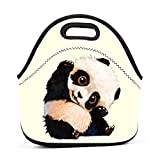 Adorable Panda Baby Lunch Bag Bento Pouch Lunchbox Portable Baby Bag Multi-purpose Satchel Tote for Outdoor Tour School Office Picnic