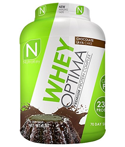 NutraKey Whey Optima Protein Powder, Chocolate Lave Cake, 5 Pound