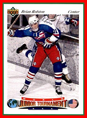 1991-92 Upper Deck Czech World Juniors #86 Brian Rolston Team USA United States