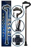 Ergocane By Ergoactives. Fully-Adjustable Ergonomic Cane (Brown/ Wood Finish)