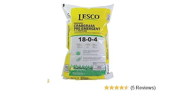 Amazon com: Lesco Pre-Emergent with Fertilizer 18-0-4 50lbs Bulk Bag