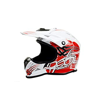 Zhanghaidong Motocross Quad Crash DH Casco Rojo Blanco Full Face Off Road Downhill Moto Casco para