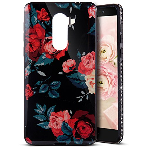 Funda Case Huawei honor 6X silicona,Ukayfe Ultra Delgado Flexible Suave TPU Gel Trasera Bumper Protector Carcasa Para Huawei honor 6X,Carcasa de 360 Protección con Pintura de Colores para teléfono por Rosas