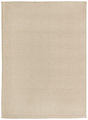 Rivet Textured Zen Hand-woven Jute Rug, 7'6'' x 9'6'', Champagne by Rivet
