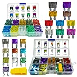 220PCS Car Blade Fuses Assortment Kit - MuHize Automotive Standard & Mini (2A/3A/5A/7.5A/10A/15A/20A/25A/30A/35A) Assorted Fuse with Puller Tool, Replacement Car RV SUV Truck Camper Fuses