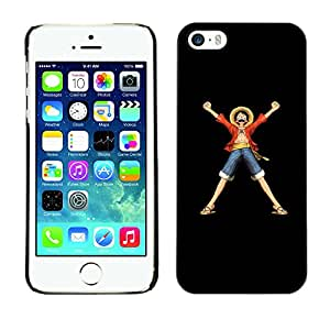 ROKK CASES / Apple Iphone 5 / 5S / ANIME CHARACTER / Delgado Negro Plástico caso cubierta Shell Armor Funda Case Cover