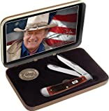 Case Dark Red John Wyne Trapper Pocket Knife Gift Set