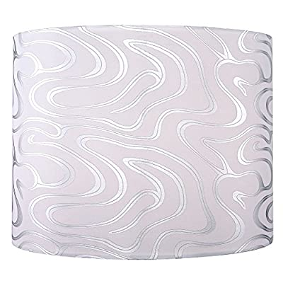 Silver Drum Lamp Shade with Spider Assembly