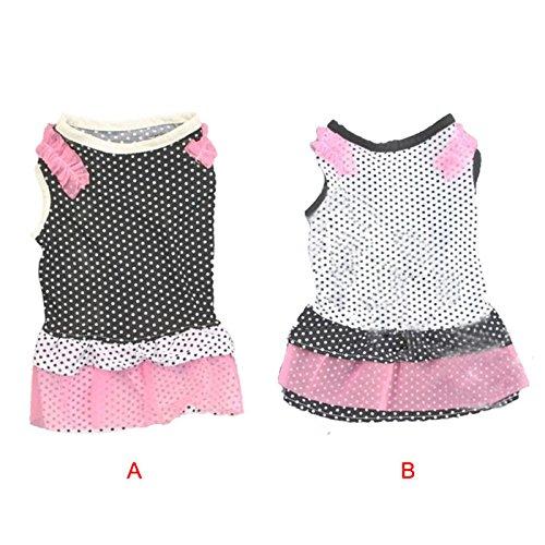 Pet Dress, Super Cute Dog Clothes Puppy Polka Dot Printed Skirt Tutu Princess Dress