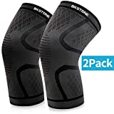 Knee Brace Support, BKSTONE 2 Pack Anti Slip Knee Brace Compression Sleeves Super