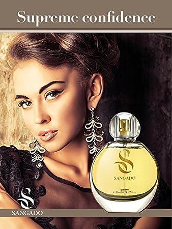 SANGADO Confianza Suprema Perfume para Mujeres, Larga Duración de 8-10 horas, Olor Lujoso, Almizcle Floral Amaderado, Francesas Finas, Extra Concentrado (Parfum), Spray de 50 ml, Un Gran Regalo