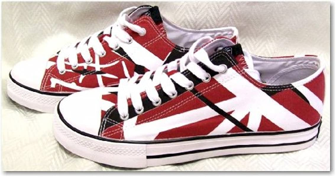 55e6c38e0f Amazon.com  EVH Eddie Van Halen Low Top Sneakers - Red