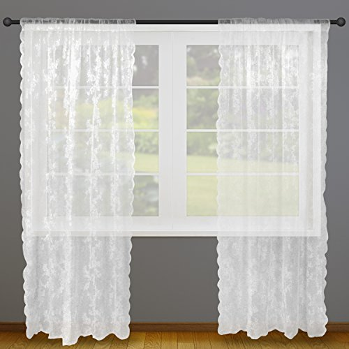 Dii Sheer Lace Decorative Window Treatments For Bedroom