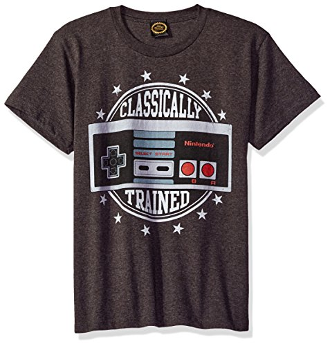 Nintendo Little Boys Classically Trained Vintage Controller Graphic T-Shirt, Charcoal Heather, YS
